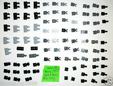LEGO Double Vertical Side Clips Dark Light Blue Stone Gray Black 60470 4081 Top