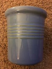 The Pampered Chef Family Heritage Stoneware Blue Utensil Crock CROC New