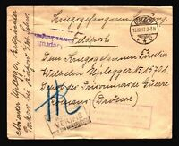 Germany 1917 POW Cover to Italy / Light Top Creasing - Z14329