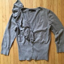 THE LIMITED Women's V-neck Button Down Textured Knit Cardigan. Sz Small $59.99