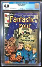 Fantastic Four 45 4️⃣  CGC 4.0 5/66 🔑  First Inhumans Stan Lee Jack KIRBY!
