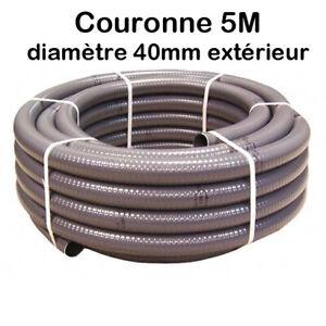 Couronne Rouleau 5M Tuyau PVC Pression Souple à coller Ø 40mm  diamètre Piscine