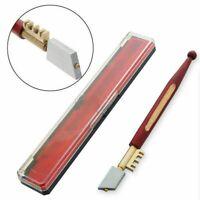 HIGH QUALITY DIAMOND TIPPED GLASS CUTTER + CASE Mirror Cutting/Score/Slice/Cut