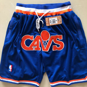 Vintage Cleveland Cavaliers Basketball Shorts Men's Pants NWT Stitched
