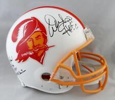 Warren Sapp Signed Tampa Bay F/S Proline 76-96 Helmet w/ 5 Stats - JSA W *Black