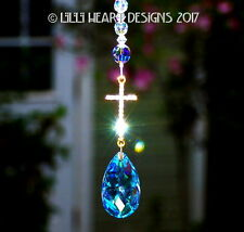 m/w Swarovski Beads and AB Drop Car Charm Rhinestone Cross Lilli Heart Designs