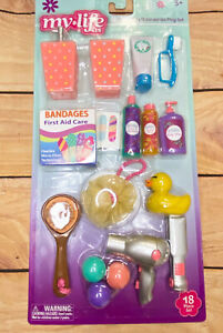 """My Life As Bathroom Accessories Play Set For 18"""" Dolls American Girl OG 18 Piece"""