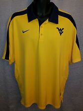 58e842d9 West Virginia Mountaineers Old Gold Nike Dri-Fit Coach's Polo EUC - Mens XL