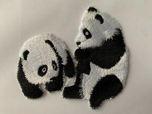 Large Panda Animal Iron On Applique Patch