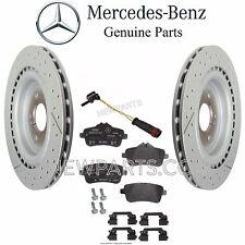 Mercedes R172 SLC43 SLK55 AMG Rear Brake Pad Set & 2 Disc Rotors & 1 Sensor Kit