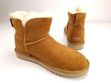 Koolaburra UGG Beige Suede Classic Mini Ankle Winter Boots Womens 10 US