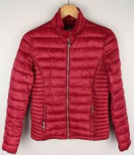 Massimo Dutti Women Down Jacket Casual Warm Outdoor Windproof Red size M UK12