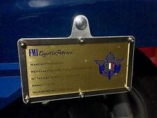 Porta targa FMI Alluminio senza colla o fori auto moto vespa supporto