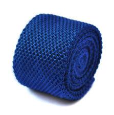 Cravates bleus en tricot pour homme