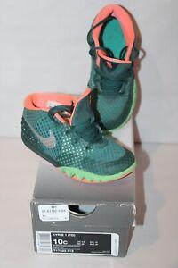 Nike Kyrie 1 Flytrap Sneakers Green Orange Youth Boy's US 10 C in box