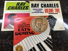 """Ray Charles & Fats Domino Lot Of 3 LP Records """"In Person"""", """"Volume Two"""", Legen.."""