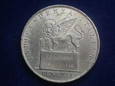5 Lire 1848 Löwe auf Postament unter Ferdinand I. Silber  W/18/01