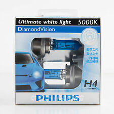 2013 Genuine Philips 5000K Diamond Vision H4 Halogen Bulb 12V 60/55W (2PC)