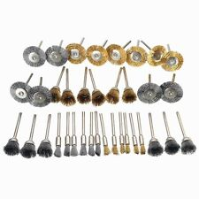 36pcs Copper Wire Polishing Wheel Brush Drum full set for Dremel Rotary Tool New