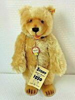 Steiff 1930 Replica Teddy Bear Mohair Blonde Jointed 14 Inch