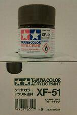 Tamiya acrylic paint XF-51 Khaki drab. 23ml