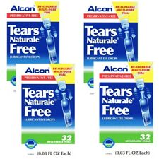 Tears Naturale Alcon Free Lubricant Eye Drops 32 Vials 4 Boxes EXP. 2019