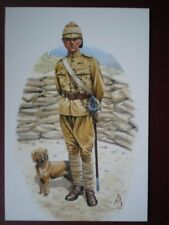 POSTCARD 1ST BTN NORTHUMBERLAND FUSILIERS - MAJOR G RAY & DRUMMER
