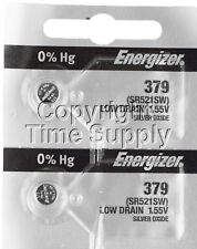 Energizer 379 Watch Batteries SR521SW SR521 0%HG ( 2 PC )