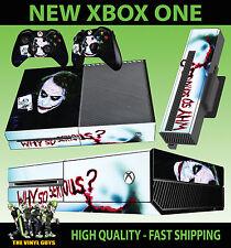 XBOX ONE CONSOLA PEGATINA JOKER WHY SO SERIOUS VILLANO DE BATMAN PIEL & 2 PAD