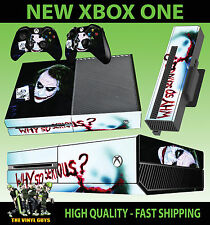 XBOX ONE CONSOLE STICKER JOKER WHY SO SERIOUS BATMAN VILLAIN SKIN & 2 PAD SKINS