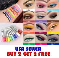 Cmaadu 12 Colors  MATTE Waterproof Eyeshadow Liquid Eyeliner Makeup Metallic