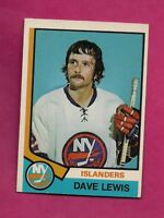1974-75 OPC # 324 ISLANDERS DAVE LEWIS  ROOKIE  EX-MT CARD (INV# A5945)