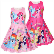 New Girls My Little Pony Princess Dress Kids Party Birthday Costume Dress