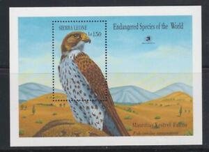 SIERRA LEONE 1989 BIRD STAMPS ENDANGERED SPECIES WORLD EXPO'89 SS MNH - BIRDL230