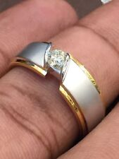 0,25 Cts Runde Brilliant Cut Diamant Herren Jubiläum Ring In Feine 14 Karat Gold