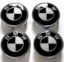 Black Carbon 4x Wheel Hub Center caps BMW 3 5 6 7 series X6 X5 68mm, 36136783536