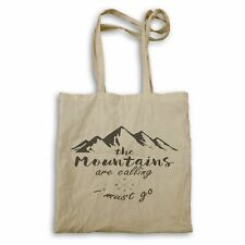 Mountains are calling i must go Tote bag hh321r