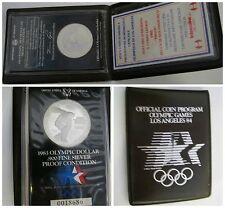 États Uni Dollar 1983 Los Angeles Olympics 1984 Mint S Preuve Km 209 Box