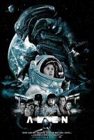 Alien Aliens The Perfect Organism Vance Kelly Screen Print Poster 24x36 Mondo