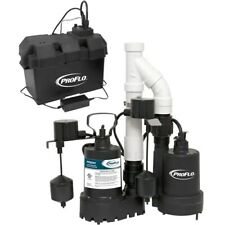 Proflo Pf92941 310 Hp Combination Primary Amp Backup Sump Pump System