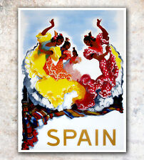 "Vintage Travel Poster Spain Dancing 12x16"" Rare Hot New A435"