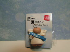 "Guardian Angel Nana Pin - 1"" Russ Angel Cheeks - New On Card"