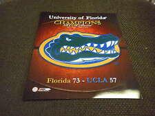FLORIDA GATORS 2006 NCAA BASKETBALL CHAMPION 8x10 Photo VS UCLA