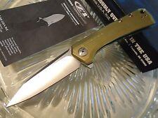 Zero Tolerance Gold Titanium KVT Flipper Pocket Knife 0808GLD S35VN Sprint Run
