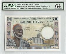 West African States / Benin ND (1961) P-204Bl PMG Choice UNC 64 5000 Francs
