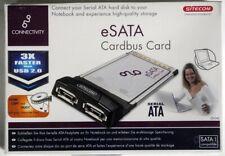 eSATA Cardbus CardMarken-Schnittstellenkarte von SITECOM  PCMCIA/2x serial ATA