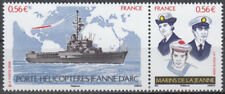 2009 FRANCE N°4423/4424** PORTE HELICOPTERES Jeanne d'Arc Helicopter carrier MNH
