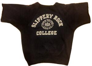 VTG 60's Champion Running Man Crewneck Sweatshirt Slippery Rock College Sz L