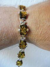 Schönes, altes armband__mit gelblichem Bernstein __925 Silber__