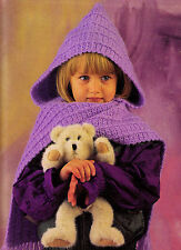 COZY One-Piece Cowl & Scarf/Kids/Crochet Pattern INSTRUCTIONS ONLY